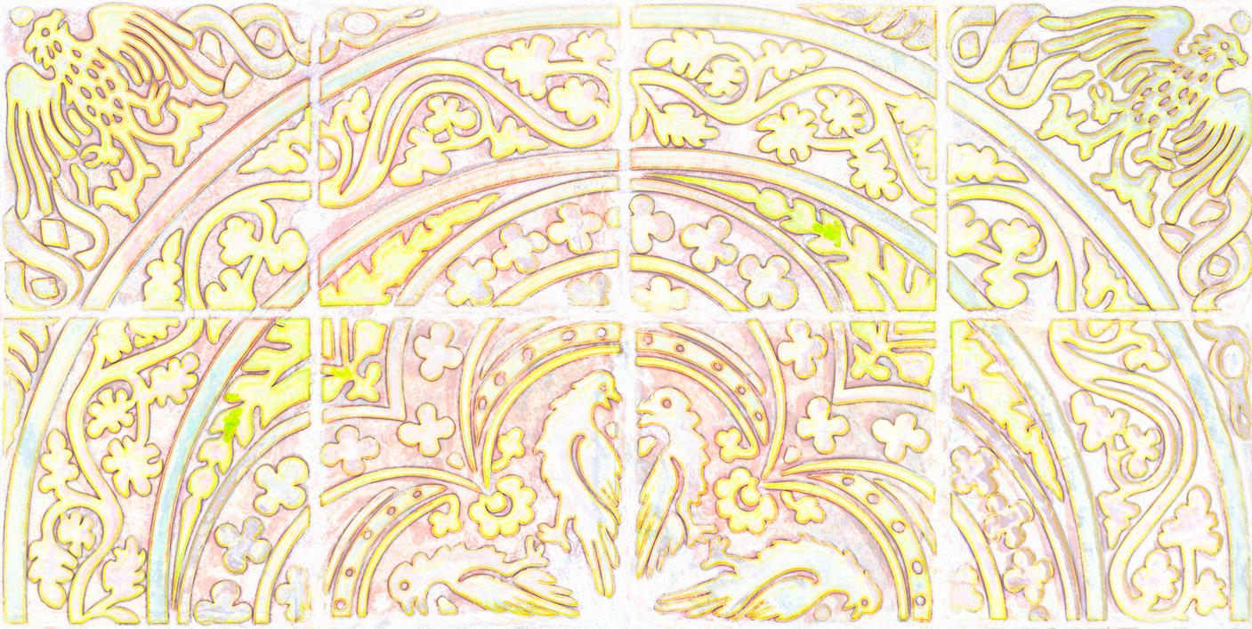 Medieval tile patterns by Martin Crampin